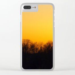 Sunset and cranes natural landscape from France Clear iPhone Case