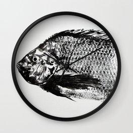 gyotaku - koi fish Wall Clock