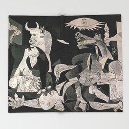 GUERNICA #1 - PABLO PICASSO Throw Blanket