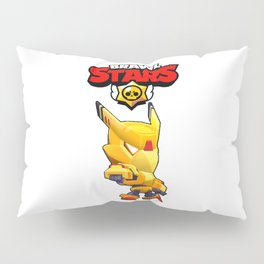 Gold Mecha Crow design   Brawl Stars Pillow Sham