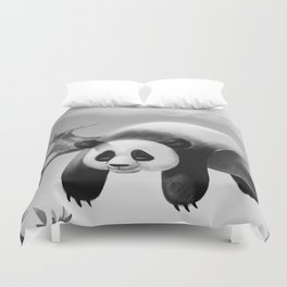 Hang In There, Panda! Duvet Cover