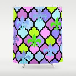 Moroccan and FDL Shower Curtain