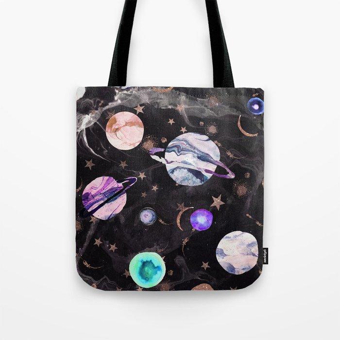 Marble Galaxy Tote Bag