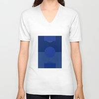 football V-neck T-shirts featuring FOOTBALL by Anthony Morell