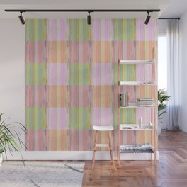 Stripes & Squares Wall Mural