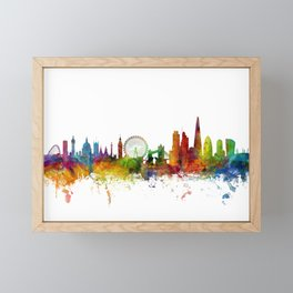 London England Skyline Cityscape Framed Mini Art Print