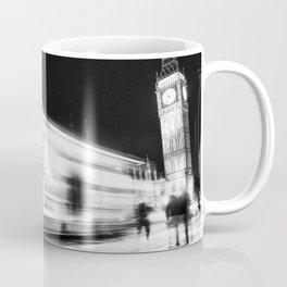Bus passing Westminster B&W Coffee Mug