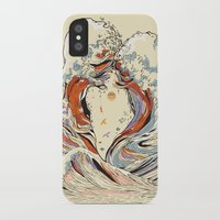 japanese iPhone & iPod Cases featuring The Wave of Love by Huebucket