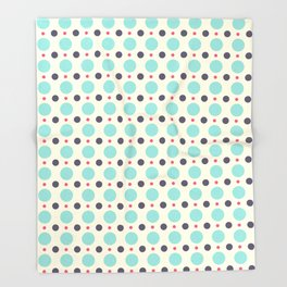 Dots (planets) Throw Blanket