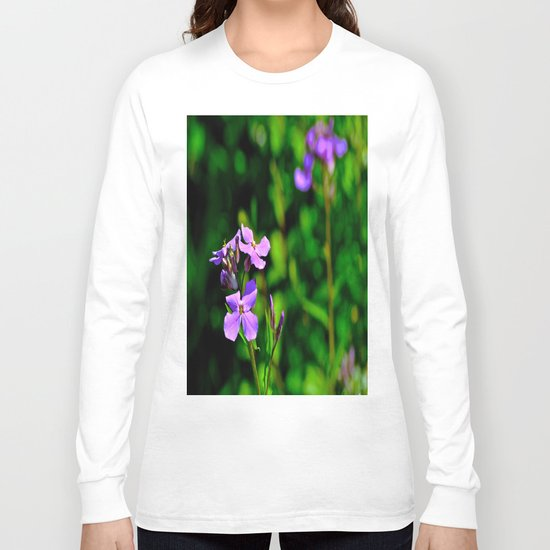 Springing Purple Long Sleeve T-shirt
