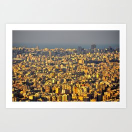 Beirut sunset Art Print