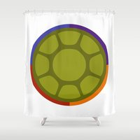 ninja turtle Shower Curtains featuring Ninja Turtle by R. Cuddi