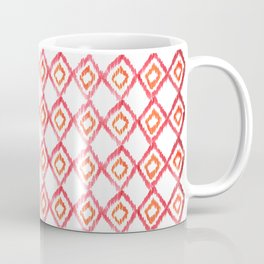 Fiery Coral - aztec watercolour pattern Coffee Mug