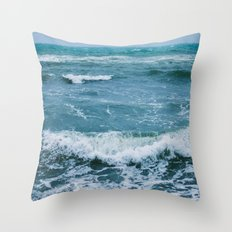 Winter sea Throw Pillow