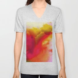 Abstract Bliss 1F by kathy Morton Stanion Unisex V-Neck