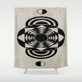 Octagonal Illusion Shower Curtain