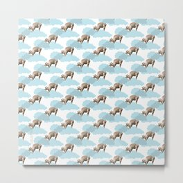 Giraff in the clouds . Joy in the clouds collection Metal Print
