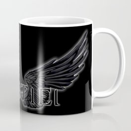 Castiel with Wings Black Coffee Mug