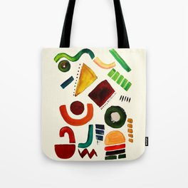 Shapes abstract pattern Tote Bag