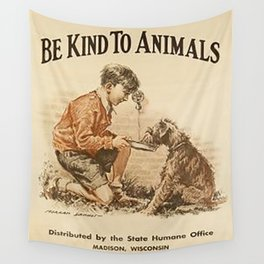 Be Kind To Animals 3 Wall Tapestry