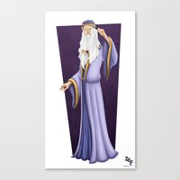 dumbledore Canvas Prints featuring Dumbledore by Zeynep Aktaş