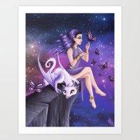 Violet Night Fantasy Art Print