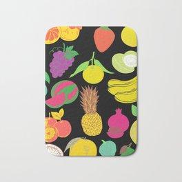 Fruit   Black Background  Bath Mat