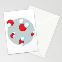 Water Molecules Stationery Cards
