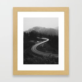 Mountain Road Curves Framed Art Print