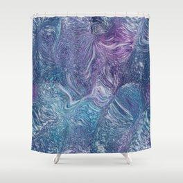 Galaxy Print Shower Curtain