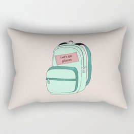 Backpack Rectangular Pillow