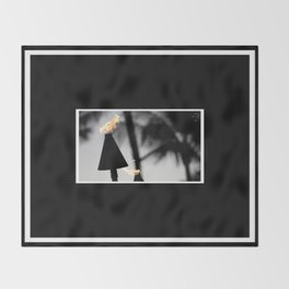 Tiki Torch Throw Blanket