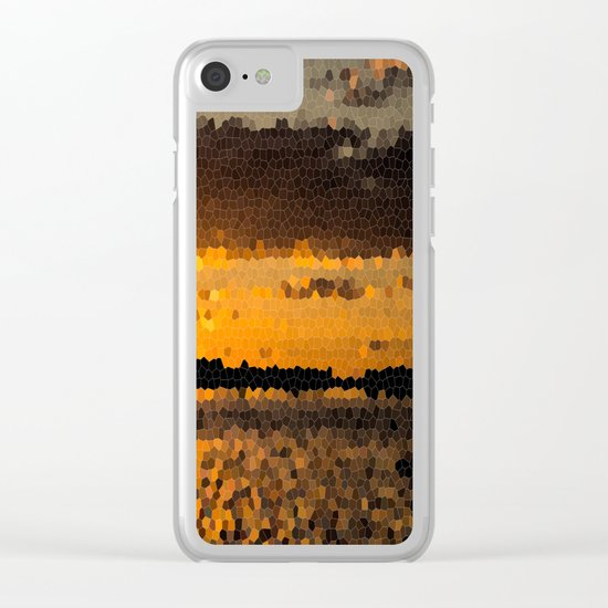 Autumn Sunset Clear iPhone Case