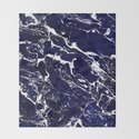 Modern Navy blue watercolor marble pattern by girlytrend