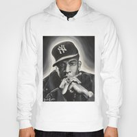 jay z Hoodies featuring Jay-Z by Sarah Painter