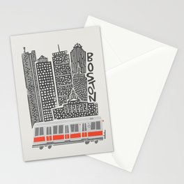 Boston City Illustration Stationery Cards