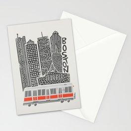 Boston City Illustration Stationery Cards