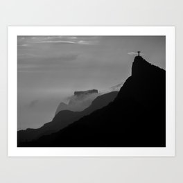 Corcovado, Rio de Janeiro Art Print