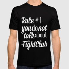 Fight Club LARGE Black Mens Fitted Tee