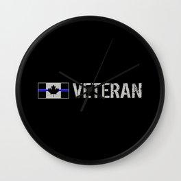 Canadian Police Veteran Wall Clock