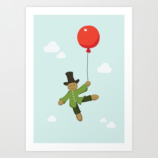 Scarecrow in balloon  Art Print