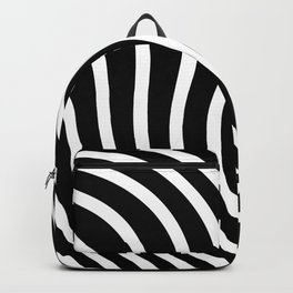 Black and white waved pattern Backpack
