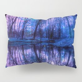 Enchanted Forest Lake Purple Blue Pillow Sham