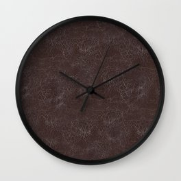 Brown Cracking  Leather-Look Wall Clock