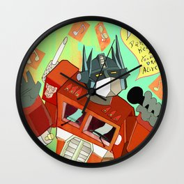 Optimus Prime DARE to keep your dreams alive! Wall Clock
