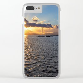 Sunset at Arrecife Clear iPhone Case
