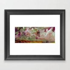 Abstract Purple Green Sky Framed Art Print