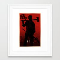 evil dead Framed Art Prints featuring The Evil Dead by Bill Pyle