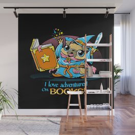 I Love Adventures! On Books. Wall Mural