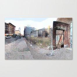 Vacant Lot Door Canvas Print